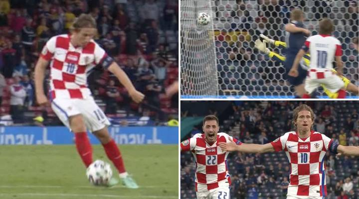 Luka Modric Shows Magical Touch As He Scores Absolute Worldie Against Scotland
