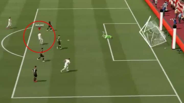 Erling Haaland's Shot On FIFA 21 Is So Powerful It Breaks The Net
