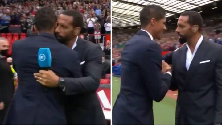 Rio Ferdinand Sent A Very Clear Message To Raphael Varane When They Met At Unveiling
