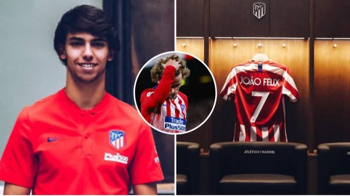 Joao Felix Takes Antoine Griezmann's No.7 Shirt At Atletico Before He's Even Left