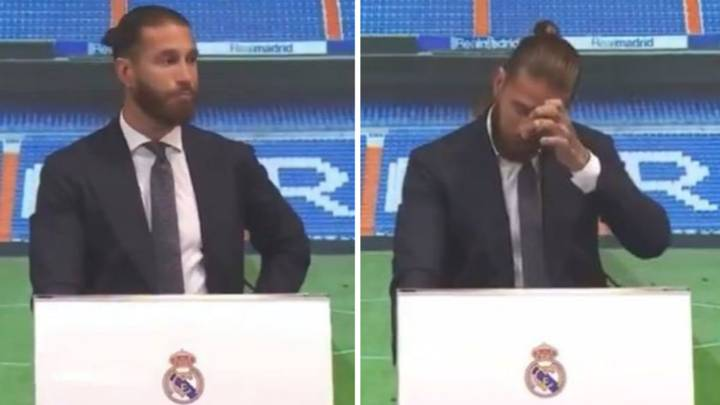 Sergio Ramos Breaks Down In Tears As He Bids Farewell To Real Madrid After 16 Years