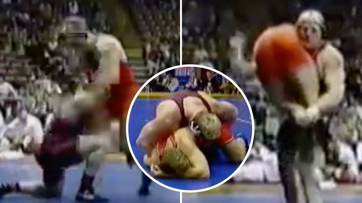 When Brock Lesnar Ruthlessly Destroyed His Opponent In A College Wrestling Match