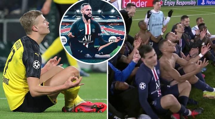 Erling Haaland Finally Hits Back At Neymar After PSG Players Mocked His Meditation Celebration