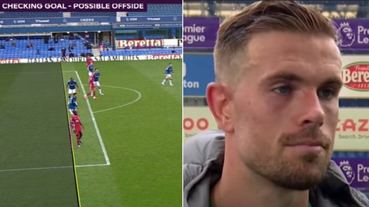 Jordan Henderson Discusses 'Bendy Lines' Conspiracy After Winner Vs Everton Is Ruled Out