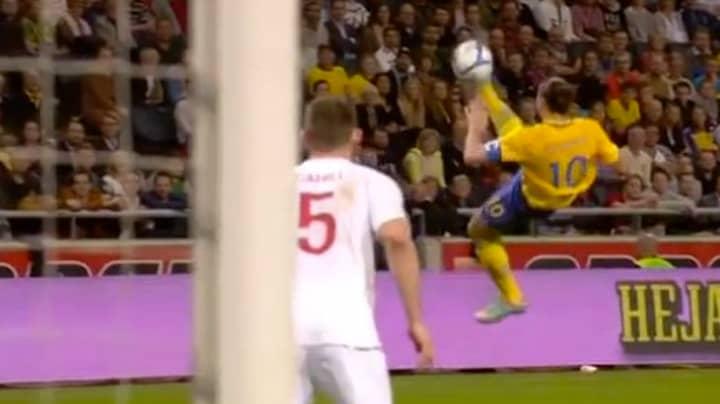 Seven Years Ago Today, Zlatan Ibrahimovic Scored His Incredible 30-Yard Overhead Kick Against England
