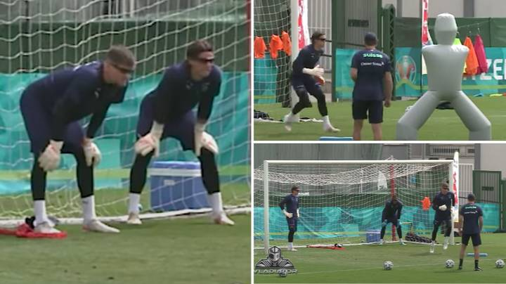 Switzerland Goalkeepers Are Wearing Special 'Performance Enhancing' Sunglasses In Training At Euros