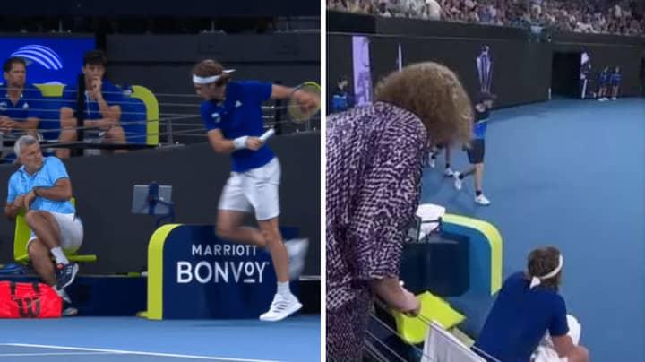 Stefanos Tsitsipas Injures His Own Dad In Furious ATP Cup Meltdown, Mum Tells Him Off