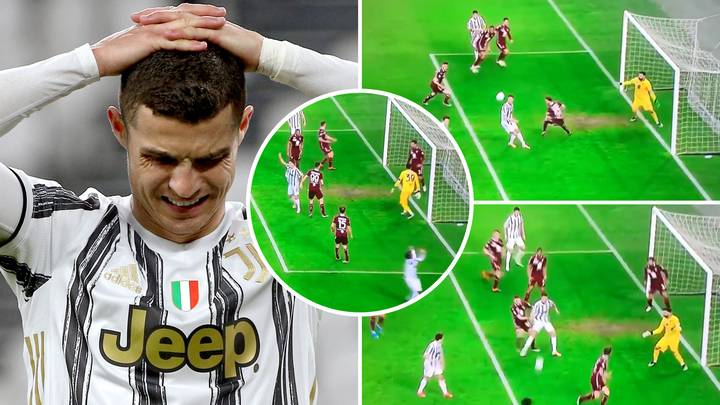 Cristiano Ronaldo Misses HUGE Chance To Score Juventus Winner Against Torino From Five Yards Out