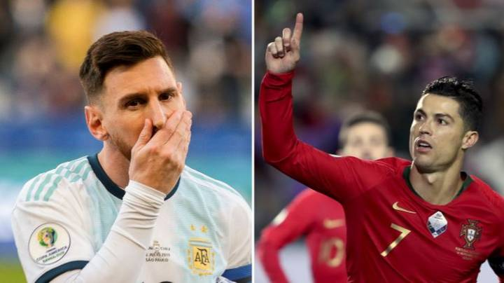 Fan Tries To Prove Lionel Messi Is Better Than Cristiano Ronaldo In International Football