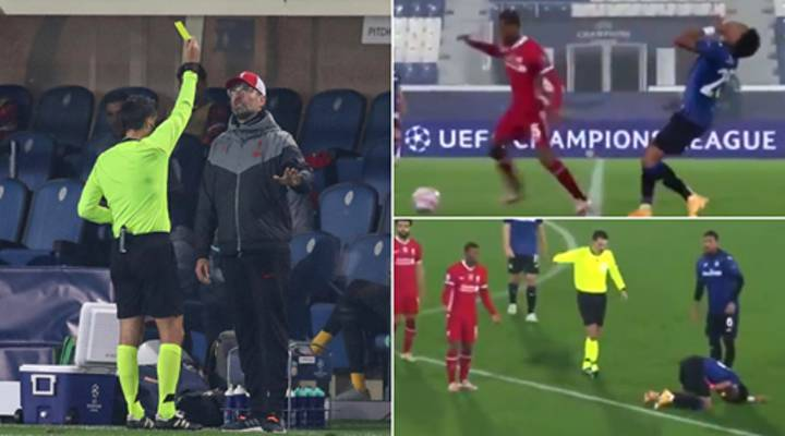 Microphones Picked Up Jurgen Klopp's Hilarious Reaction To Atalanta Player Going Down