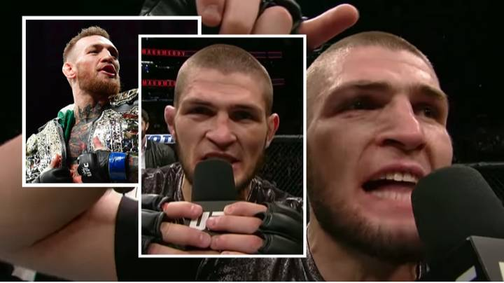 Khabib Gave His Most Iconic Post-Fight Interview The Night Conor McGregor Made UFC History