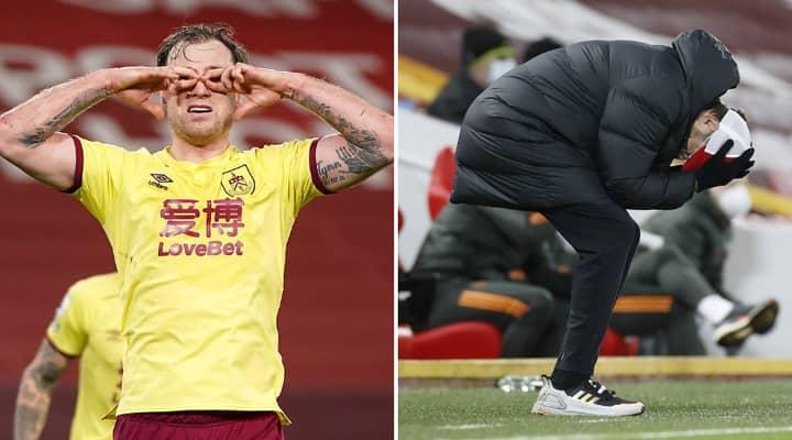 Burnley Stun Liverpool At Anfield As Jurgen Klopp And Sean Dyche Clash