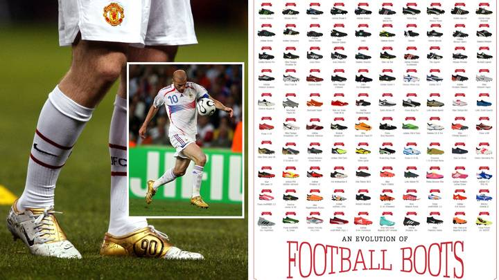 The Evolution Of Football Boots Poster Features 120 'Iconic' Designs And Is A Pure Nostalgia Trip