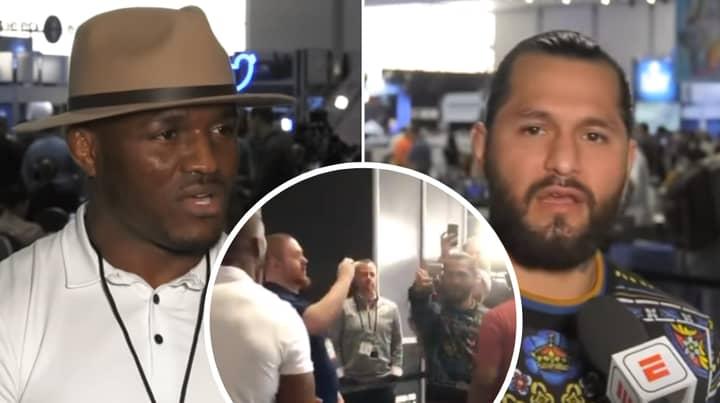 Jorge Masvidal And Kamaru Usman React To Super Bowl Media Day Altercation