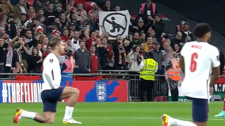 Hungary Fans Hold Up Anti-Kneeling Banner During Game Against England
