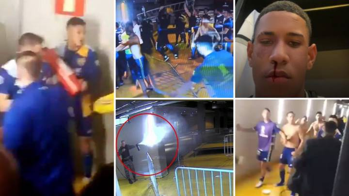 Boca Juniors Players Clash With Police After Being Knocked Out Of Copa Libertadores