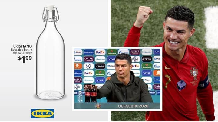 Ikea Release 'Cristiano' Water Bottles After Ronaldo's Coca-Cola Stunt
