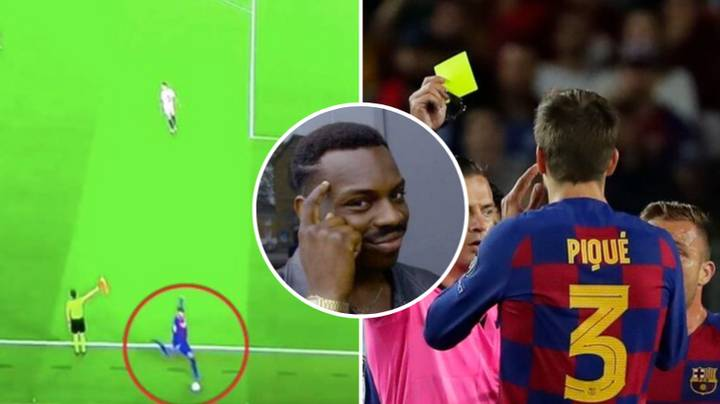 People Think Gerard Pique Got A Deliberate Yellow Card So He Can Play In El Clasico