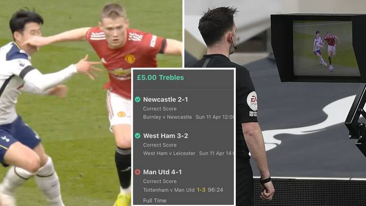 Punter Misses Out On An Incredible £90,000 Bet After Scott McTominay's 'Foul' On Son Heung-Min