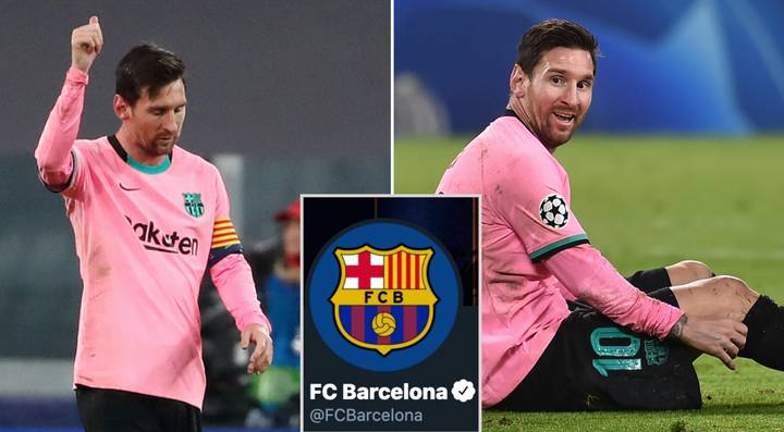 Barcelona Troll Juventus With Messi GOAT Tweet After Ronaldo Misses Out On Champions League Loss