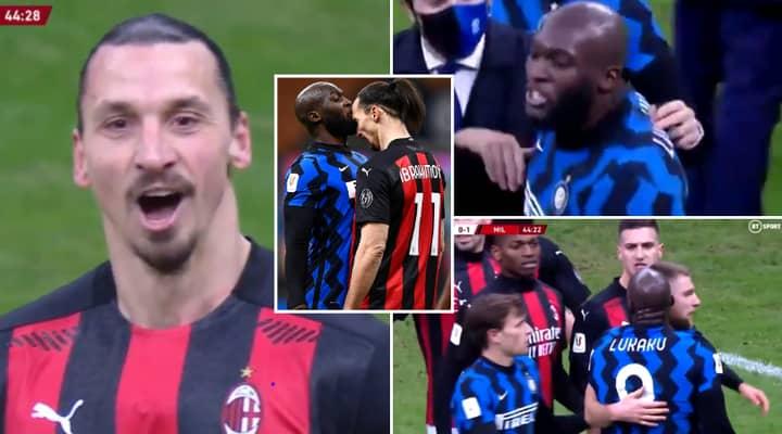 What Zlatan Ibrahimovic And Romelu Lukaku Said During Their Heated War Of Words In Milan Derby