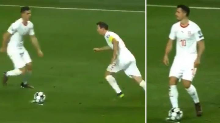 Granit Xhaka And Stephan Lichtsteiner Took The Worst Free-Kick Of All-Time For Switzerland