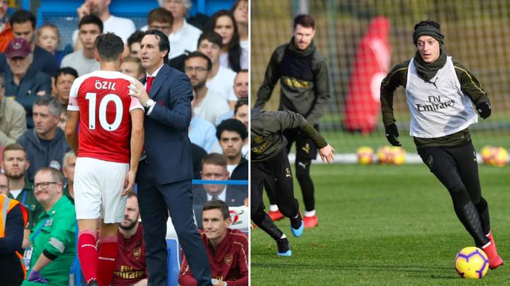 Mesut Ozil Completely Left Out Of Arsenal's Match-Day Squad Despite Training All Week
