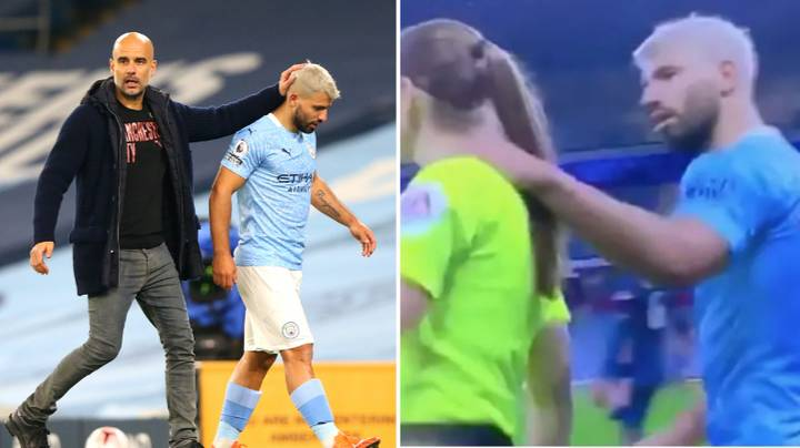 Pep Guardiola Defends Sergio Aguero For Touching Sian Massey-Ellis
