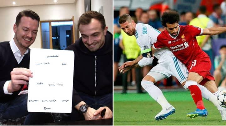 Liverpool's Xherdan Shaqiri Names His Dream World XI, Includes Sergio Ramos