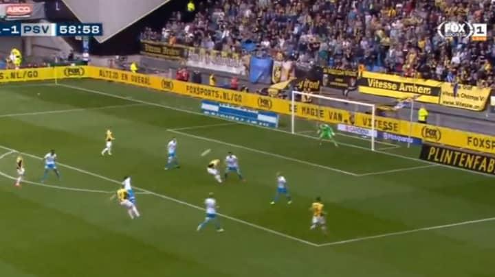Martin Odegaard Scores A 25-Yard Screamer Against PSV Eindhoven