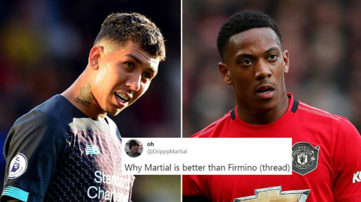 Fan Argues Anthony Martial Is Better Than Roberto Firmino In Long Thread