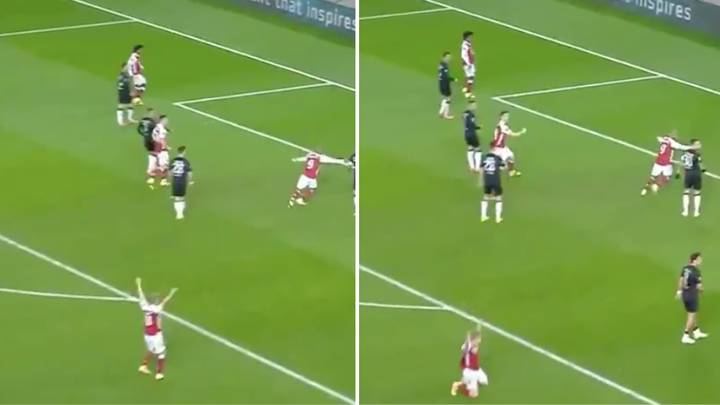 Arsenal Fans Loved Martin Odegaard's Celebration For Pierre-Emerick Aubameyang's Winner