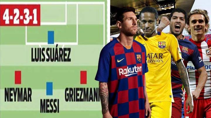 The Three Ways Barcelona Could Line Up Next Season If They Sign Neymar And Antoine Griezmann