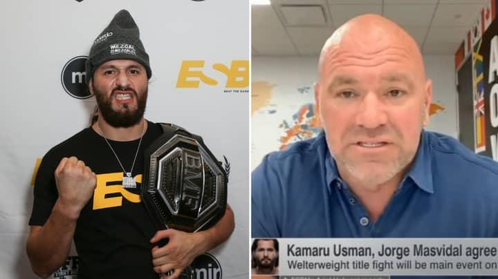 Dana White Reveals How Kamaru Usman Vs. Jorge Masvidal Was Made For UFC 251