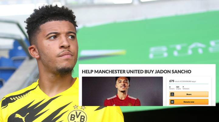 Manchester United Fan Is Trying To Fund A Move For Jadon Sancho On GoFundMe Page