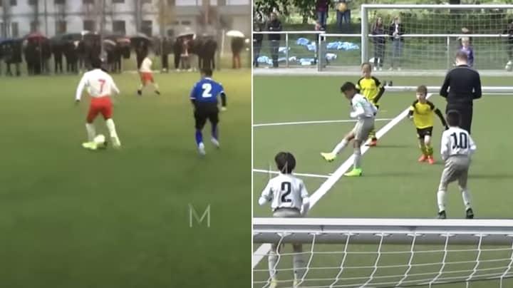 Cristiano Ronaldo Jr's Individual Highlights For Juventus