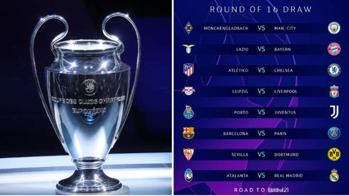 Fans React On Social Media To Draw For The Last 16 Of The Champions League