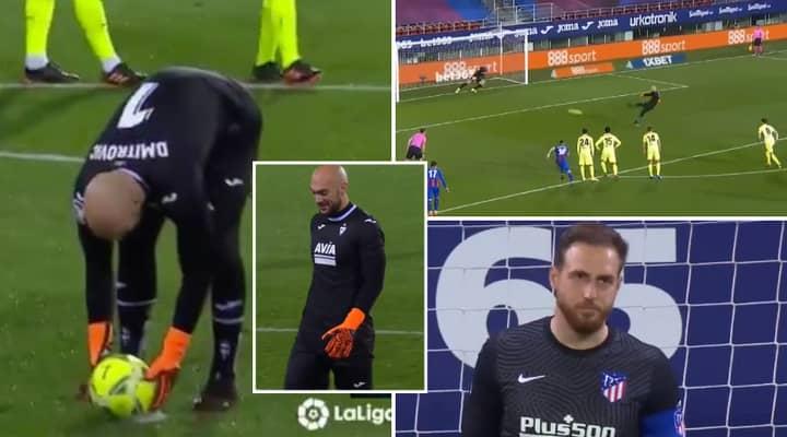 Eibar Goalkeeper Marko Dmitrovic Humiliates Atletico Madrid's Jan Oblak After Scoring Brilliant Penalty