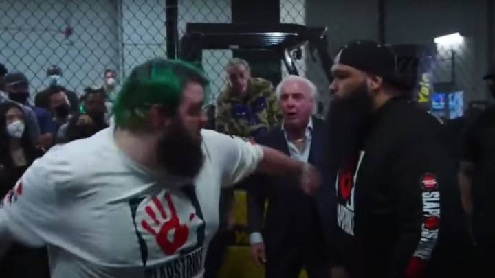 Ric Flair Hosted A Slapping Competition On The Undercard Of Jake Paul Vs Ben Askren