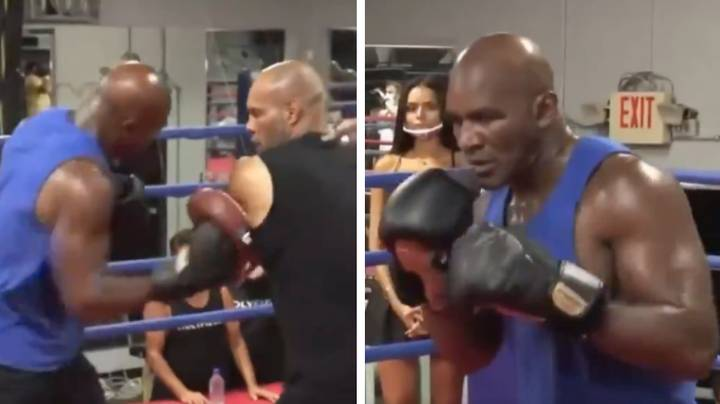 Boxing Fans Concerned For Evander Holyfield After 'Uncomfortable' Training Footage Emerges Online