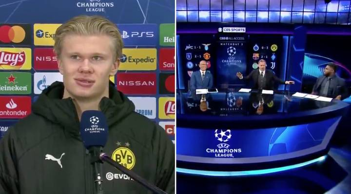Erling Haaland Involved In The Most Bizarre And Awkward Interview After Scoring Twice In Champions League