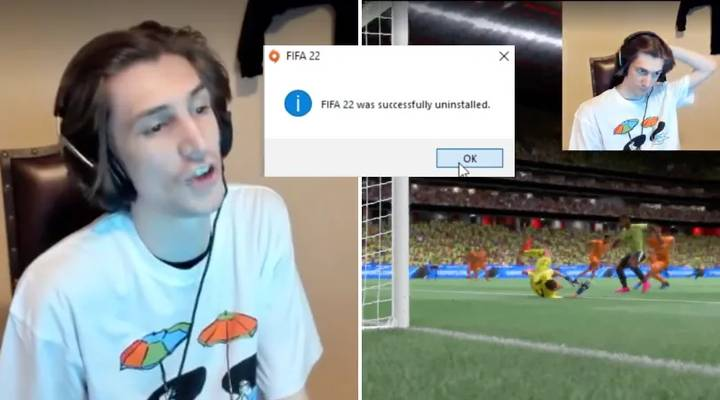 Streamer Rage Quits And Uninstalls FIFA 22 After Getting Destroyed In Ultimate Team