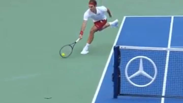Roger Federer's Shot 'Around The Net Post' Is The Shot Of The Year