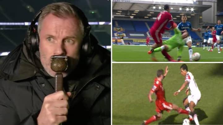 Jamie Carragher Defends Jordan Pickford On Sky Sports After Shocking Challenge On Virgil Van Dijk