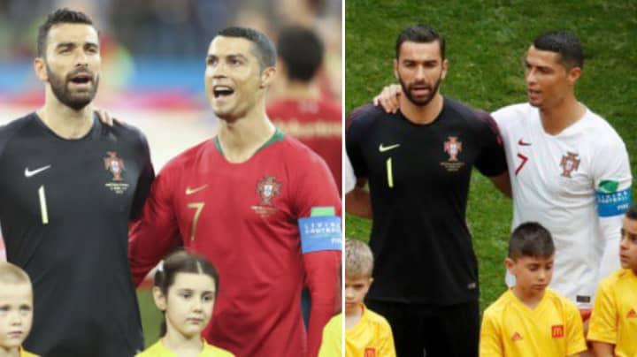 Why Cristiano Ronaldo Stood Sideways During The Portuguese National Anthem