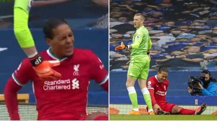Jordan Pickford Allegedly Snubbed By Virgil van Dijk And Told To 'Go Away' After Awful Tackle