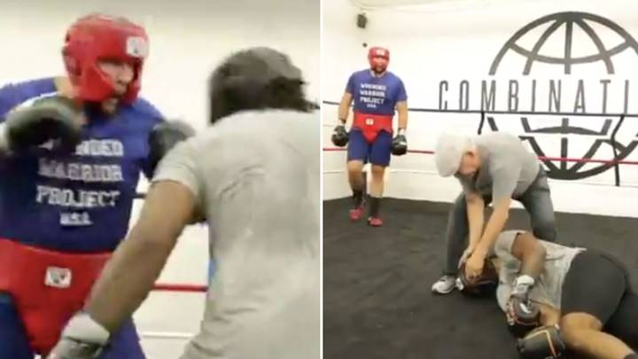Heavyweight Boxer Slammed For Posting Sickening Video Of Him Brutally Knocking Out Sparring Partner