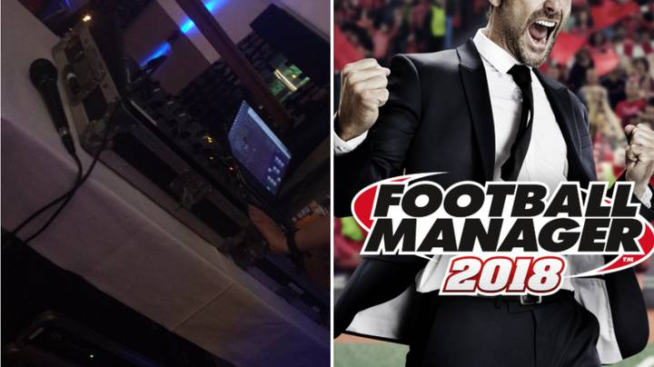 Wedding DJ Loads Up Football Manager Save At Reception