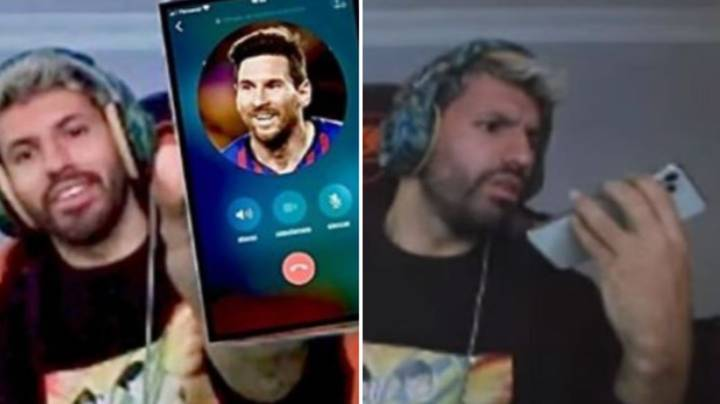 Sergio Aguero Randomly Calls Lionel Messi At 9am And The Pair Have A 10 Minute Chat