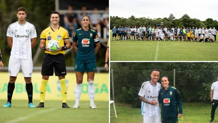 Gremio Men's Under 16s Beat Brazil Women's National Team 6-0 In Intergender Match